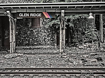 Photograph - Westbound Track At Glen Ridge Station by Kellice Swaggerty