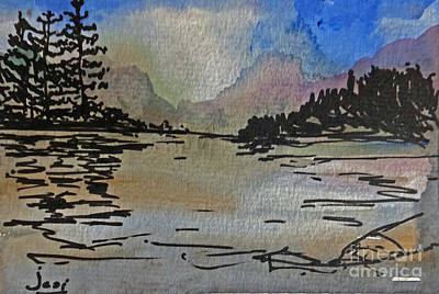 Painting - Westcoast Reflections by Jessamine Barron