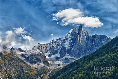 Western Alps In Chamonix Art Print