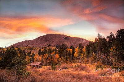 Photograph - Western Barn At Sunset II by Michele Steffey