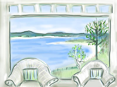 Western Beach Prouts Neck Maine Art Print by Jean Pacheco Ravinski