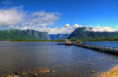 Western Brook Fjord. Art Print