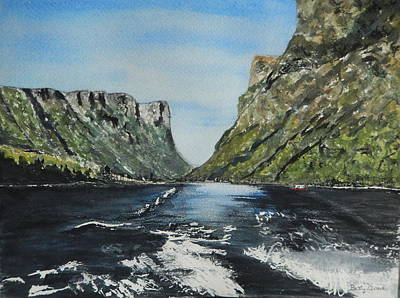 Painting - Western Brook Pond by Betty-Anne McDonald