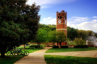 Cullowhee Photograph - Western Carolina University Alumni Tower by Greg and Chrystal Mimbs