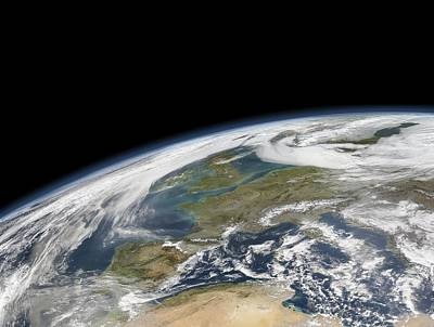 Western Europe, Satellite Image Art Print by Science Photo Library