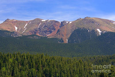 Steven Krull Royalty-Free and Rights-Managed Images - Western Face Pikes Peak by Steven Krull