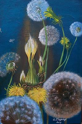 Painting - Western Goat's Beard Weed by Sharon Duguay