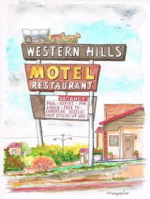Western Hills Motel In Route 66 Flagstaff - Arizona Art Print