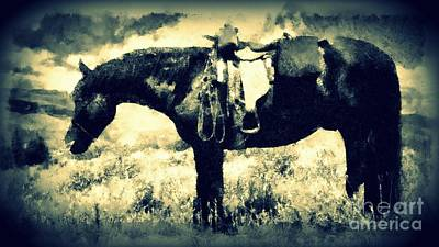Photograph - Western Horse - Long Trail Home by Janine Riley