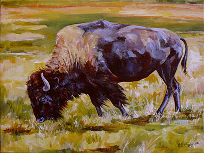 Yellowstone Painting - Western Icon by Derrick Higgins