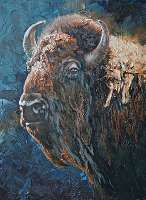 Art Of Mia Delode Painting - Western Icon by Mia DeLode
