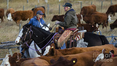 Cattle Drive Photograph - Western Living 5 by Bob Christopher