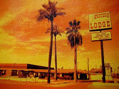 Western Lodge Original by Michael Jewel Haley