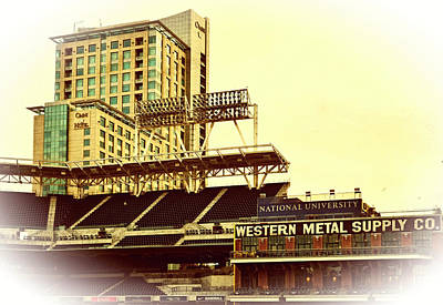 Western Metal-petco Park Art Print by See My  Photos