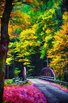 Painting - Western North Carolina Backroads And Forests by John Haldane