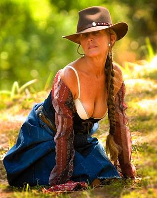 Photograph - Western Pin Up by Nancy Taylor