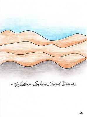 Western Sahara Sand Dunes 1 Art Print