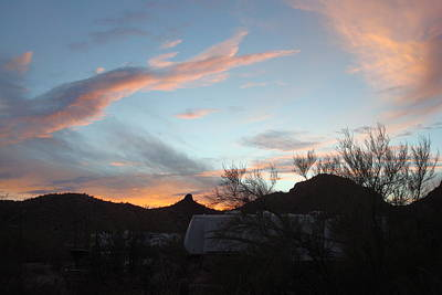 Photograph - Western Sky At Sundown by Susan Woodward