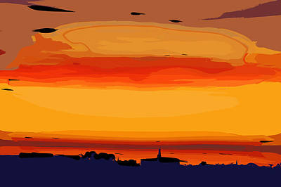 Art Print featuring the digital art Western Sky by Kirt Tisdale