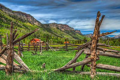 Split Rail Fence Photograph - Western Solitude by Tom Weisbrook