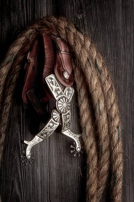 Lariat Photograph - Western Spurs - Revisited by Tom Mc Nemar