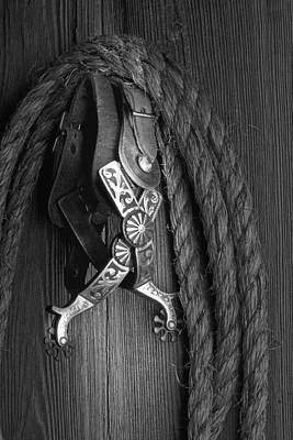 Ropes Photograph - Western Spurs by Tom Mc Nemar