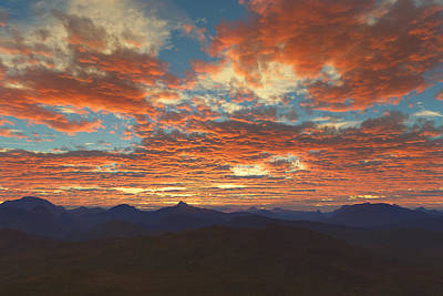 Digital Art - Western Sunset by Mark Greenberg
