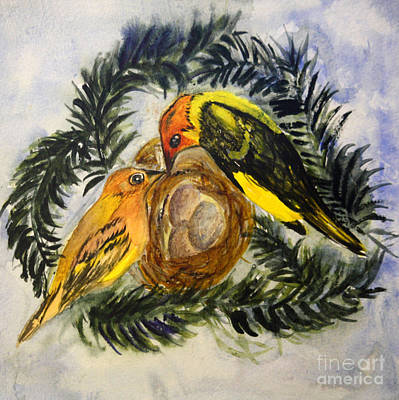 Animals Painting - Western Tanager by Donna Walsh