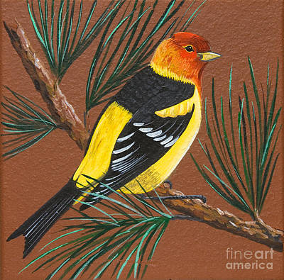 Painting - Western Tanager by Jennifer Lake