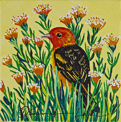 Painting - Western Tanager Mini by Jennifer Lake