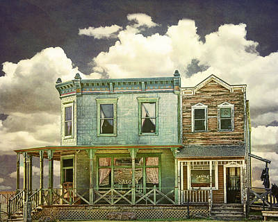 Photograph - Western Town Saloon And Saddle Shop At 1880's Town by Randall Nyhof