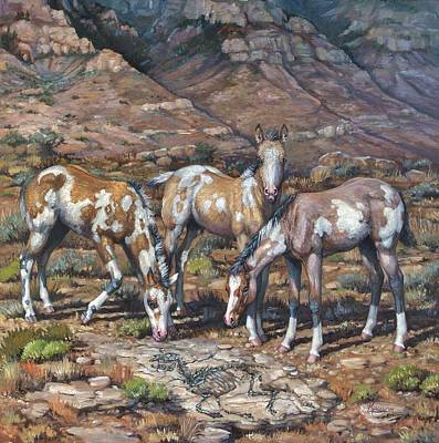 Kerry Nelson Painting - Western Treasures Nursery Rhymes by Kerry Nelson