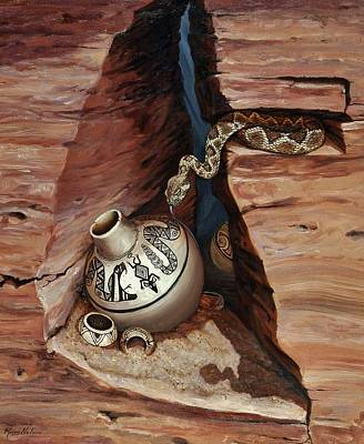 Kerry Nelson Painting - Western Treasures The Cache by Kerry Nelson
