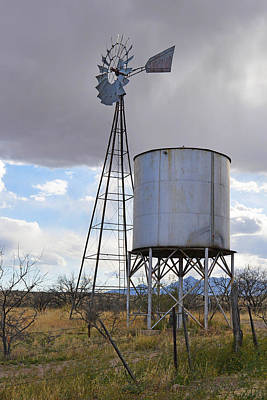 Photograph - Western Windmill by Alan Lenk