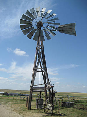 Photograph - Western Windmill by David Seguin