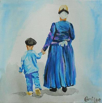 Westfriese Woman And Boy Art Print