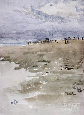 People On The Beach Painting - Westgate by James Abbott McNeill Whistler
