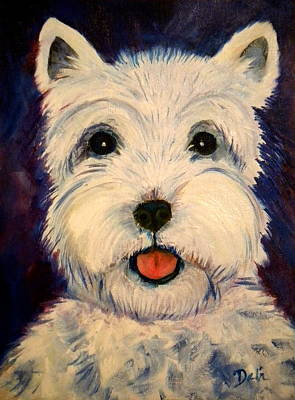 Painting - Westie by Debi Starr