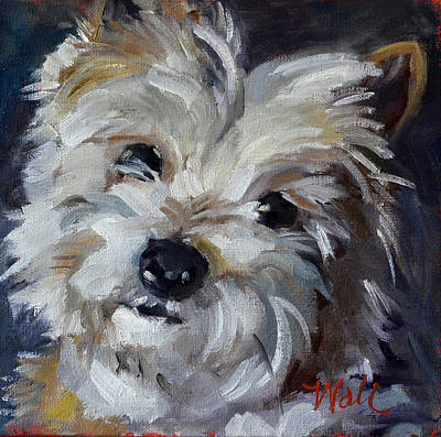 Painting - Westie Mix by Pattie Wall