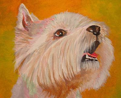 Westie Portrait Art Print by Tracey Harrington-Simpson