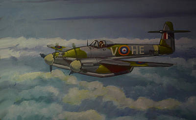 Print featuring the painting Westland Whirlwind by Murray McLeod