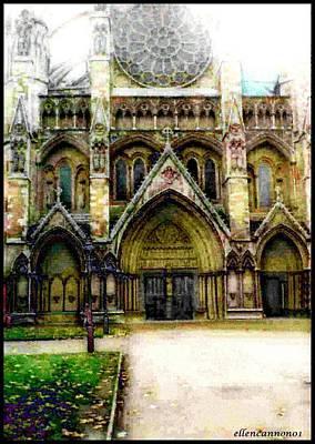 Westminster Abbey Digital Art - Westminster Abbey by Ellen Cannon