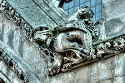 Photograph - Westminster Abbey Gargoyle 5 by Deborah Smolinske