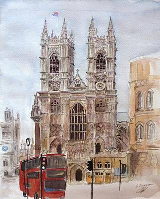 Westminster Abbey Painting - Westminster Abbey by Henrieta Maneva