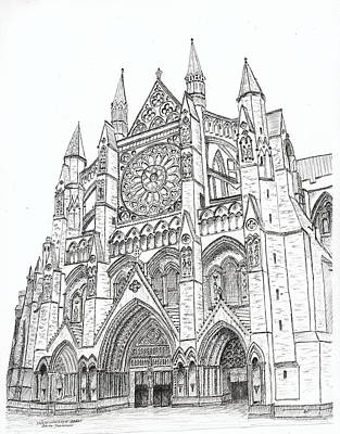 Westminster Abbey Drawing - Westminster Abbey London England by Brian Thompson