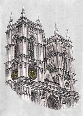 Westminster Abbey Drawing - Westminster Abbey London by Gerald Blaikie