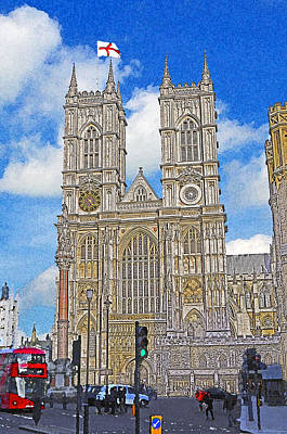 Westminster Abbey Mixed Media - Westminster Abbey by Peter Allen