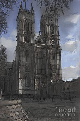 Westminster Abbey Mixed Media - Westminster Abbey by Roger Lighterness