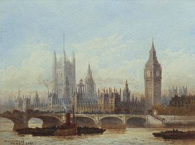 Westminster And Westminster Bridge From The River Art Print by MotionAge Designs