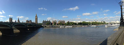 Victoria Embankment Photograph - Westminster Bridge Big Ben by Steve K
